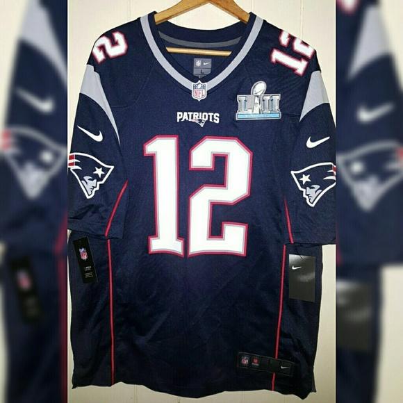 a9406efaa49 Nike Shirts | Nfl Patriots Tom Brady Super Bowl Jersey Sz Large ...